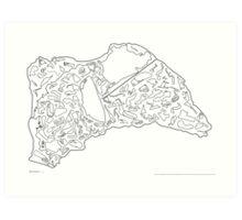 Race Tracks to Scale V2 - Plain Layouts Art Print