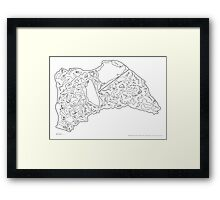 Race Tracks to Scale V2 - Plain Layouts Framed Print