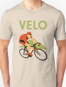 Retro art deco design cycling velo T-Shirt