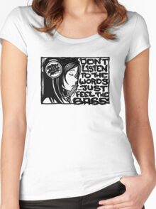 Headphone Girl BnW Women's Fitted Scoop T-Shirt