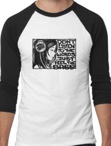 Headphone Girl BnW Men's Baseball ¾ T-Shirt