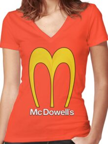 McDowell's - Home of the Big Mick Women's Fitted V-Neck T-Shirt