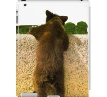 baby bear is escaping iPad Case/Skin