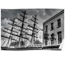 The Cutty Sark and Gipsey Moth Pub Greenwich Poster