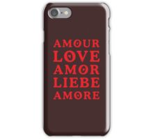 The Language of Love - Text Art iPhone Case/Skin