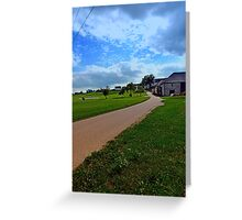Country road with cloudy sky | landscape photography Greeting Card
