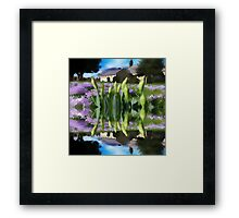 Church flowers in reflection Framed Print