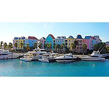 Colorful Buildings and Yachts Photographic Print