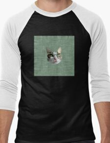Green Hipster Cat With an Oil Touch T-Shirt