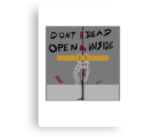 The walking dead - Dont open, Dead inside Canvas Print