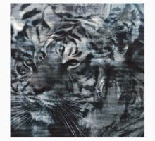 Black White Layered Tiger Vintage 2 by silvianeto