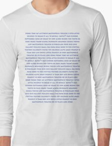 Marianas Trench - Track Lists Long Sleeve T-Shirt