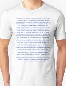Marianas Trench - Track Lists Unisex T-Shirt