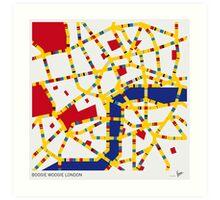 BOOGIE WOOGIE LONDON Art Print