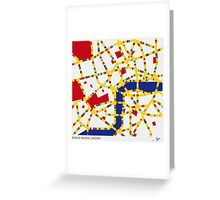 BOOGIE WOOGIE LONDON Greeting Card