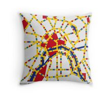 BOOGIE WOOGIE MOSCOW Throw Pillow