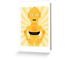 C3PO Star Wars Mellow Yellow Art Greeting Card