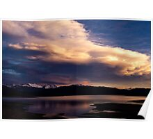 Last Light at Shadow Mountain Lake Poster