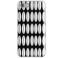 Black and White Catherine Holm Vintage Inspired Lotus Petal Art iPhone Case/Skin
