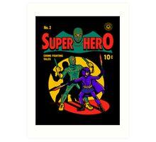 Superhero Comic Art Print
