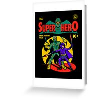 Superhero Comic Greeting Card