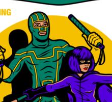 Superhero Comic Sticker