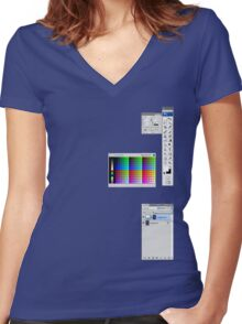 Windows To The Soul (Swatches) Women's Fitted V-Neck T-Shirt