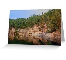 Granite rocks at the natural lake | waterscape photography Greeting Card