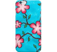 Pink and Blue Flower Design iPhone Case/Skin