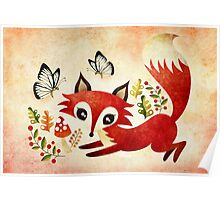 Playful Fox Poster
