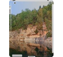 Granite rocks at the natural lake | waterscape photography iPad Case/Skin