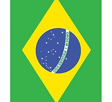 BRAZILIAN FLAG (Portrait) PURE & SIMPLE: Football by TOM HILL - Designer