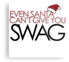 Funny Santa SWAG Metal Print