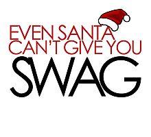 Funny Santa SWAG Photographic Print