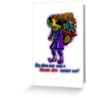 Happy Mask Salesman Greeting Card
