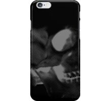 Skull grey on black iPhone Case/Skin