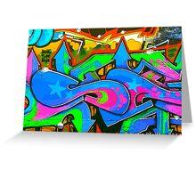 Graffiti Wall #2 Greeting Card