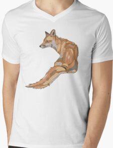 F O X Mens V-Neck T-Shirt