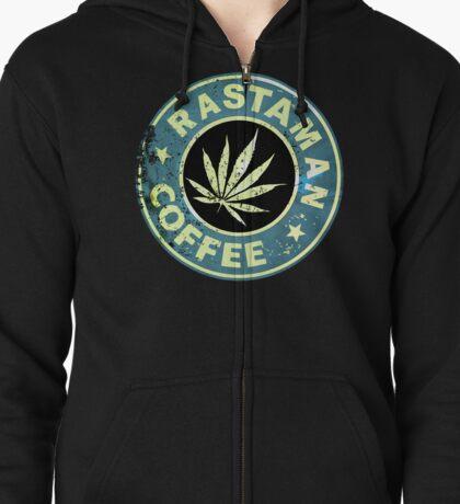 RASTAMAN COFFEE VINTAGE  Zipped Hoodie