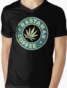 RASTAMAN COFFEE VINTAGE  Mens V-Neck T-Shirt