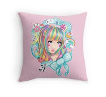 Kawaii princess Throw Pillow