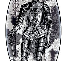 Suit of armor oval by Rob Cox