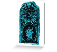 night time clock Greeting Card