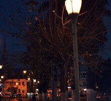 night in bodrum street by gzmguvenc89
