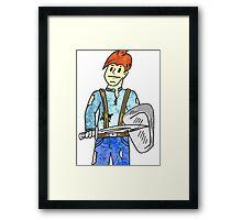 Cartoon warrior 1 Framed Print