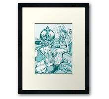 Spaceman and Angel Framed Print