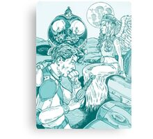 Spaceman and Angel Metal Print
