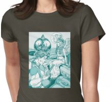 Spaceman and Angel Womens Fitted T-Shirt