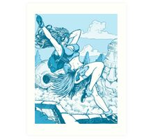 Pulp hero Art Print