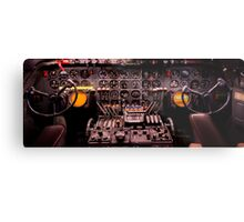 WWII Airplane Cockpit Metal Print